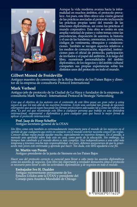 Boek cover (achterkant) - International Protocol, te koop in de webshop