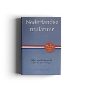 Boek cover - Nederlandse titulatuur, te koop in de webshop