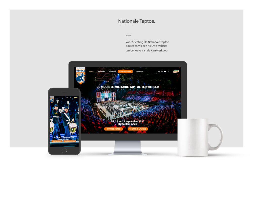 portfolio voorbeeld - website Nationale Taptoe, Rotterdam