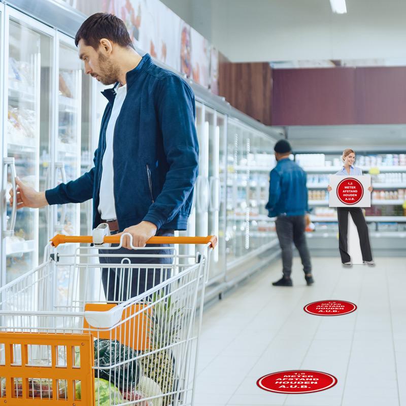 signing producten in een supermarkt