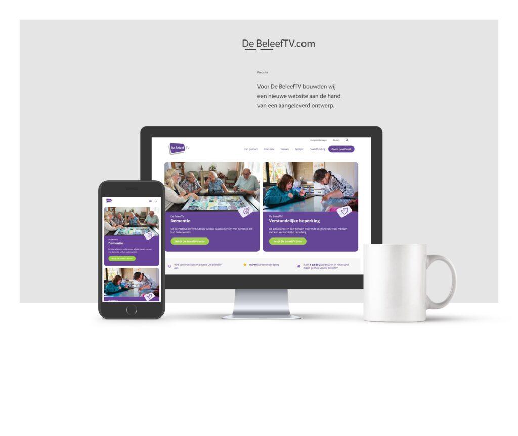 Portfolio voorbeeld website De BeleefTV, Delfgauw