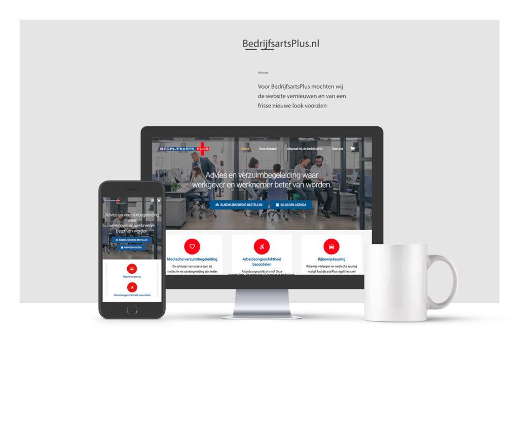 Portfolio foto website BedrijfsartsPlus, Den Haag