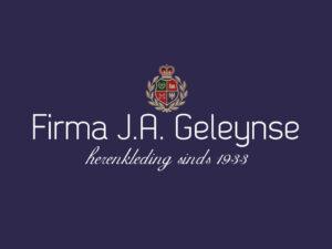 Logo Firma J.A. Geleynse Herenkleding. Statenkwartier, Den haag