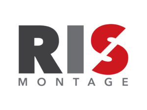 Logo RIS Montage Almere, ontworpen door VoordenBakker