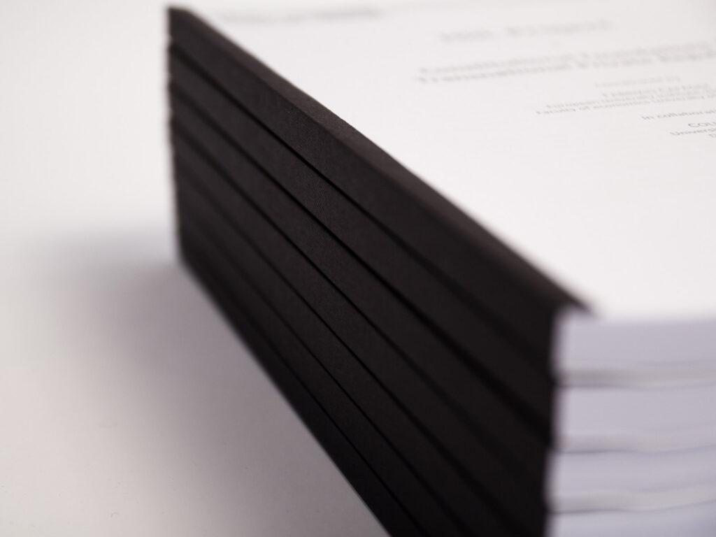 Wij verzorgen ook het inbinden van je documenten.